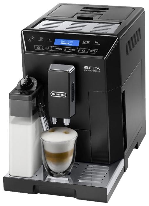 Кофемашина Delonghi ECAM 44.660.BКофеварки и кофемашины<br><br><br>Тип используемого кофе: Зерновой\Молотый<br>Мощность, Вт: 1450<br>Давление помпы, бар  : 15<br>Материал корпуса  : Пластик<br>Встроенная кофемолка: Есть<br>Емкость контейнера для зерен, г  : 400<br>Одновременное приготовление двух чашек  : Есть<br>Подогрев чашек  : Есть<br>Контейнер для отходов  : Есть<br>Съемный лоток для сбора капель  : Есть