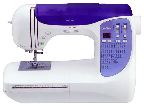 Швейная машинка Brother NX-200Швейные машины<br><br><br>Тип: электронная<br>Тип челнока: качающийся<br>Количество швейных операций: 50<br>Выполнение петли: автомат<br>Число петель: 6<br>Максимальная длина стежка: 4 мм<br>Максимальная ширина стежка: 7.0 мм<br>Потайная строчка : есть<br>Эластичная строчка : есть<br>Эластичная потайная строчка: есть
