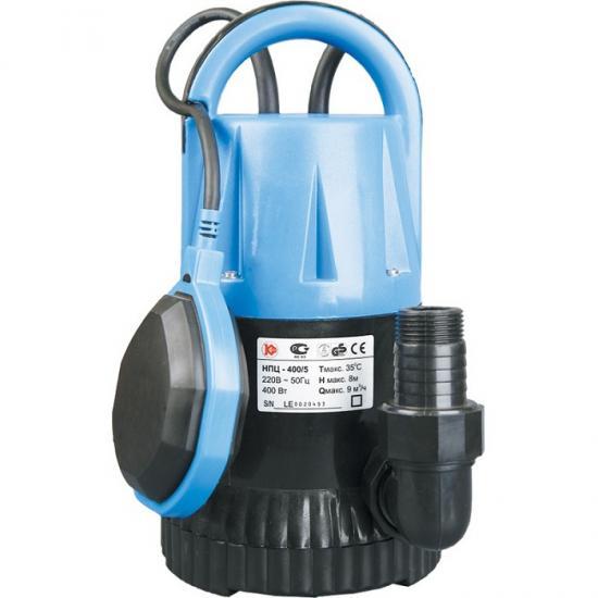 Насос Калибр НПЦ- 400/ 5ПНасосы<br>поплавковый выключатель - автоматически отключает насос при падении уровня воды ниже установленного, и включает его при достижении заданного;<br>компактность, простота в эксплуатации, возможность переноса;<br><br>-&amp;nbsp;&amp;nbsp;для водозабора из резервуаров или рек, откачивания воды из плавательных бассейнов, колодцев, погребов<br>-&amp;nbsp;&amp;nbsp;в системах полива и орошения, а также для понижения грунтовых вод.<br><br>Глубина погружения: 6 м<br>Максимальный напор: 8 м<br>Пропускная способность: 9 куб. м/час<br>Потребляемая мощность: 400 Вт<br>Качество воды: чистая<br>Установка насоса: вертикальная