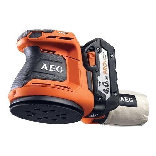 Эксцентриковая шлифмашина AEG 451086 BEX18-125-0Шлифовальные и заточные машины<br>- Мощный двигатель 18 В орбитальной шлифовальной машины 125 мм<br>- Идеальна для работы в ограниченных пространствах и над головой<br>- Регулируемая скорость для оптимального контроля<br>- Удобное крпление под Велькро<br>- Очень эффективная система пылеудаления, более 8 отверстий в подошве<br>- Удаление пыли с помощью мешка для сбора пыли или системы поглощения<br>- Эластичная накладка Soft-grip для лучшего удержания<br>- Поставляется с мешком для сбора пыли и шлифбумагой<br><br>Размер хода платформы, мм: 2.4