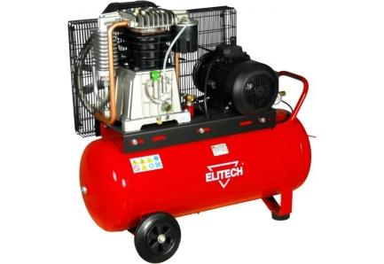 Компрессор Elitech КР 100/АВ858/5.5ТВоздушные компрессоры<br>Предназначен для работы с пневмоинструментами, для использования в качестве насоса и в тех местах, где необходим сжатый воздух. Оснащение: чугунный поршневый блок Fiac, визуальный контроль давления в ресивере и на выход &amp;#40;манометры&amp;#41;, регулировка давления на выход, визуальный контроль масла в компрессоре &amp;#40;смотровое окно&amp;#41;, электромеханический блок управления давлением в ресивере, предохранительный механический клапан высокого давления, дренажный клапан для слива конденсата, быстросъемный разъем подключения инструмента, удобная руко...<br>