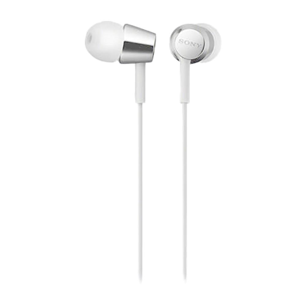 Наушники Sony MDR-EX155 WhiteНаушники и гарнитуры<br>- Компактность и высокое качество звука<br>Высокочувствительные 9-миллиметровые динамики в компактном корпусе обеспечивают четкое звучание верхних частот и мощные басы.<br><br>- Устойчивый к спутыванию кабель<br>Устойчивый к спутыванию и перекручиванию рифленый кабель обеспечивает комфорт при использовании наушников.<br><br>- Вкладыши четырех размеров<br>Вкладыши четырех размеров &amp;#40;SS, S, M и L&amp;#41; позволяют адаптировать наушники под свои потребности для максимально комфортного прослушивания на ходу.<br><br>Тип: наушники<br>Вид наушников: Вставные<br>Тип подключения: Проводные<br>Диапазон воспроизводимых частот, Гц: 5 - 24000