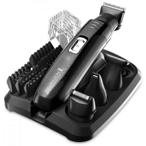 Машинка для стрижки Remington PG 6130Машинки для стрижки и триммеры<br><br><br>Возможность влажной чистки: Есть<br>Время работы, мин: 40<br>Материал лезвий: лезвия с титановым покрытием