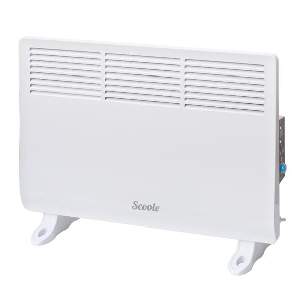 Конвектор Scoole SC HT CL1 1000 WTОбогреватели<br><br><br>Тип: конвектор<br>Площадь обогрева, кв.м: 16<br>Отключение при перегреве: есть<br>Влагозащитный корпус: есть<br>Управление: электронное<br>Регулировка температуры: есть<br>Термостат: есть<br>Таймер: есть<br>Максимальное время установки таймера. ч: 24<br>Дисплей: есть