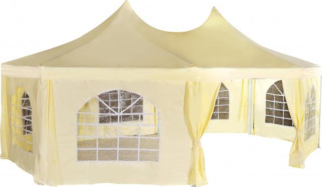 Садовый тент-шатер Green Glade 1052Садовые тенты и шатры<br>Тент-шатер Green Glade 1052 успешно заменяет беседку, отлично выглядит и создает комфорт и уют на свежем воздухе. В отличие от обычной беседки тент-шатер Green Glade 1052 мобилен. Его можно переставлять с места на место и вовсе убрать в случае необходимости. Установите внутри тента комплект дачной мебели и используйте его для проведения завтраков-обедов на свежем воздухе. Тент-шатер защищает не только от знойного солнца, но и от дождя, так как он имеет водоотталкивающее покрытие. Прекрасный вариант для комфортного отдыха.<br><br>Тип: Садовый тент-шатер<br>Покрытие: полиэстер 240 г с водоотталкивающей пропиткой<br>Каркас: металлическая трубка (32х34х34 мм)<br>Размеры упаковки: 245х24х17 см. + 96х34х35 см