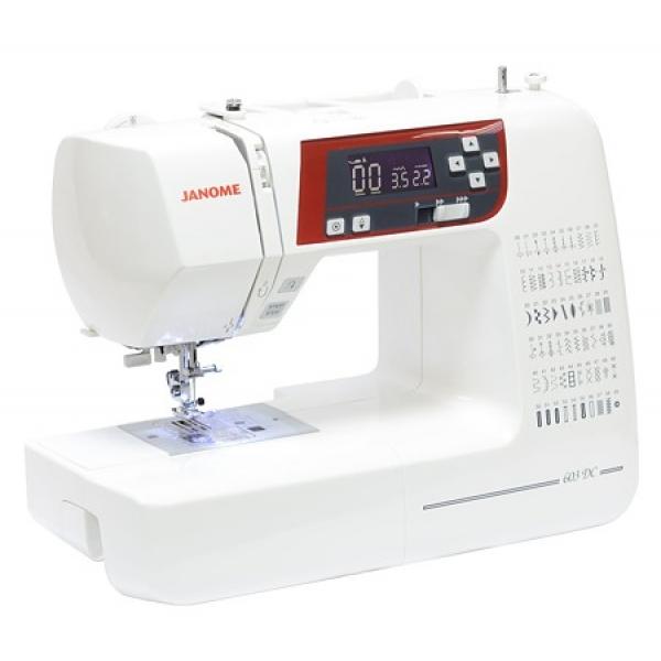 Швейная машина Janome 603 DCШвейные машины<br>Janome dc 603: когда шитье приносит удовольствие.<br> Процесс шитья должен приносить не только пользу, но еще и удовольствие. Как же этого добиться? Все просто! Если вы шьете на качественной и удобной швейной машине с мягким ходом и широким функционалом, то работа обязательно будет поднимать вам настроение и приносить нестоящее удовольствие. Где найти такую машину? Ее не нужно искать, потому что она уже перед вами &amp;mdash; швейная машина Janome dc 603.<br><br><br><br> Эта электронная машинка в совершенстве знает 60 разных швейных операций и имеет горизонтальный челнок, благодаря...<br><br>Тип: электронная<br>Тип челнока: ротационный горизонтальный<br>Количество швейных операций: 60<br>Выполнение петли: автомат<br>Оверлочная строчка : есть<br>Потайная строчка : есть<br>Эластичная строчка : есть<br>Эластичная потайная строчка: есть<br>Кнопка реверса: есть<br>Регулировка давления лапки на ткань: есть