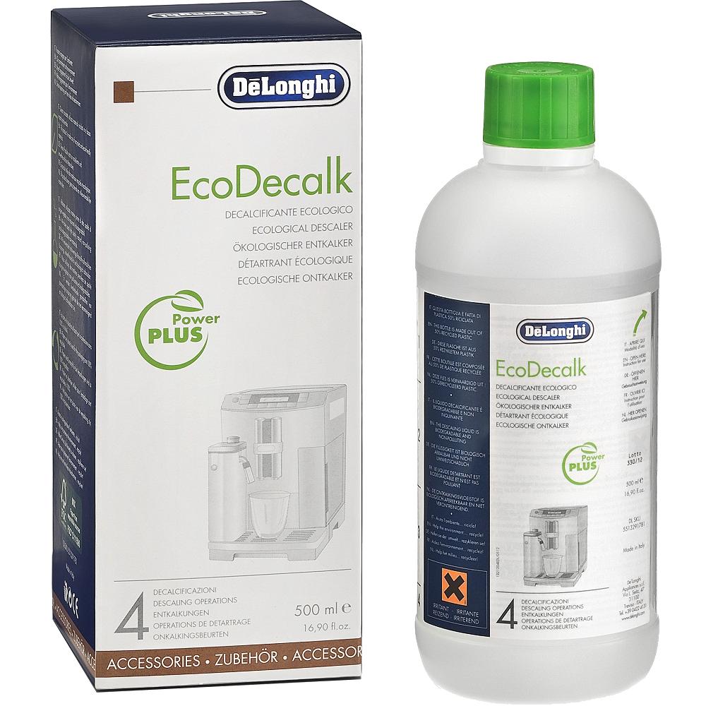 Жидкость для удаления накипи Delonghi EcoDecalk 500mlАксессуары для кофемашин<br><br><br>Тип: жидкость для удаления накипи<br>Описание: удаление накипи и известковых отложений в кофемашинах. Количество применений: до 4 циклов