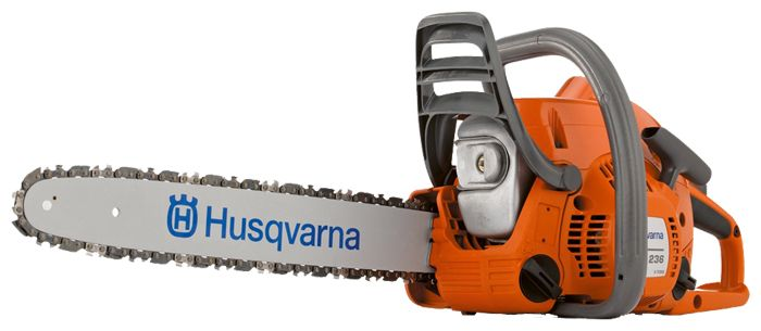 Бензопила Husqvarna 236Пилы<br><br><br>Тип: бензопила<br>Конструкция: ручная<br>Мощность, Вт: 1400<br>Объем двигателя: 38 куб. см<br>Функции и возможности: антивибрация, тормоз цепи