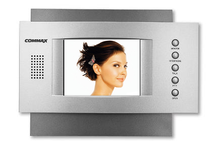Видеодомофон Commax CDV-51AMДомофоны<br>Главной особенностью домофона является наличие блока памяти, что позволяет записывать до 128 фото снимков. Фото может записываться как автоматически при вызове, так и в ручном режиме. Домофон не только записывает снимки, но и указывает на дату и время произведенного архива. При окончании места для записи, домофон автоматически удаляет старый архив фото и записывает новый. Блок памяти домофона - энергонезависимый.<br>Домофон COMMAX CDV-51AM представлен в сочетании серебристо-серого и темно-серого цветов. Неповторимый дизайн делает домофон уникальным...<br><br>Кнопка управления замком: есть<br>&quot;Свободные руки&quot; (без трубки): есть<br>Память: 128 кадров<br>Регулировка яркости: есть<br>Регулировка контраста: есть<br>Регулировка громкости: есть