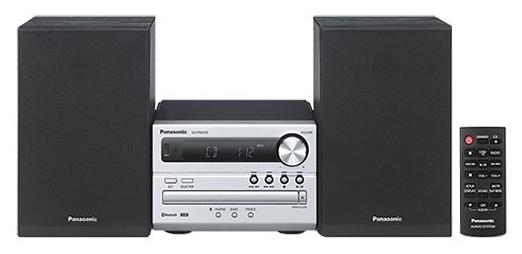 Микросистема Panasonic SC-PM250EE-SМинисистемы и магнитолы<br><br><br>Тип: Микросистема<br>Основной блок: Одноблочная<br>Комплект акустических систем: 2.0<br>Полная выходная мощность (RMS): 20<br>FM-приемник: Есть<br>Поддерживаемые форматы: MP3<br>Поддерживаемые носители: CD, CD-R, CD-RW<br>Количество CD/DVD дисков: 1<br>Bluetooth: Есть