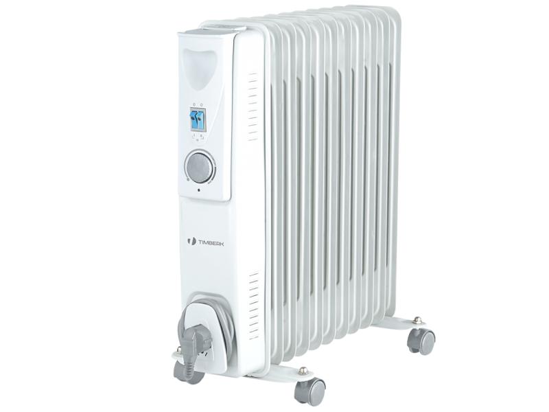 Масляный радиатор Timberk TOR 21.1507 ACXОбогреватели<br><br><br>Тип: масляный радиатор<br>Серия: ECO<br>Количество секций: 7<br>Отключение при перегреве: есть<br>Каминный эффект : есть<br>Управление: механическое<br>Регулировка температуры: есть<br>Термостат: есть<br>Защита от мороза : есть<br>Напольная установка: есть