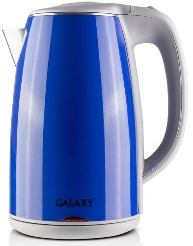 Электрочайник Galaxy GL 0307 BlueЧайники и термопоты<br><br><br>Тип   : Электрочайник<br>Объем, л  : 1.8<br>Мощность, Вт  : 2200<br>Тип нагревательного элемента: Закрытая спираль<br>Материал корпуса  : пластик<br>Индикация включения  : Есть<br>Индикатор уровня воды  : Нет<br>Блокировка включения без воды  : Есть<br>Фильтр  : Есть