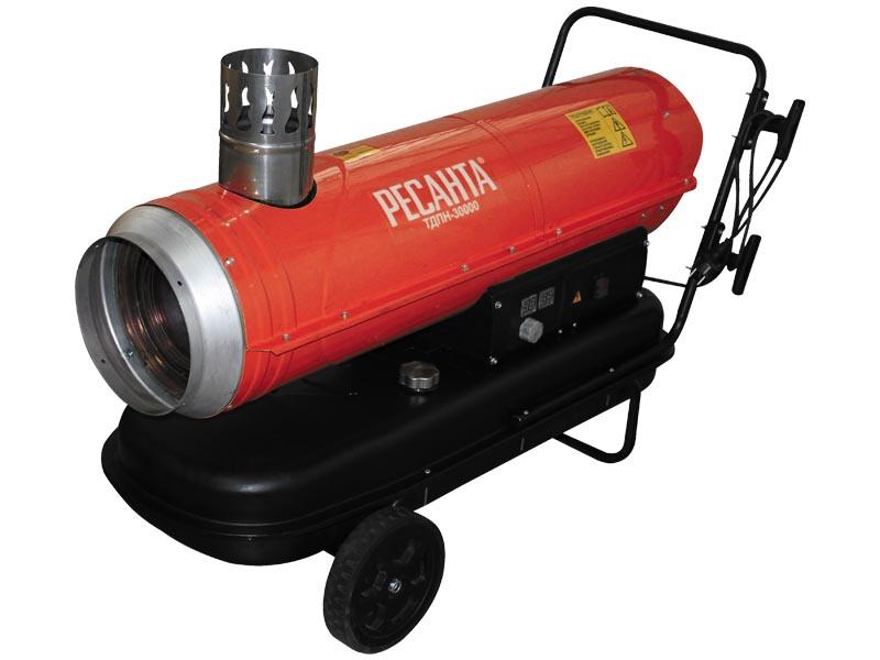Тепловая пушка Ресанта ТДПН-30000Тепловые пушки и завесы<br><br><br>Тип: тепловая пушка<br>Напольная установка: есть<br>Колеса для перемещения: есть<br>Ручка для перемещения: есть<br>Напряжение: 220 В<br>Максимальная тепловая мощность: 30 кВт<br>Максимальный расход топлива: 2,4 кг/час<br>Производительность: 800 м3/час<br>Габариты: 1100x460x600<br>Вес: 44,2 кг