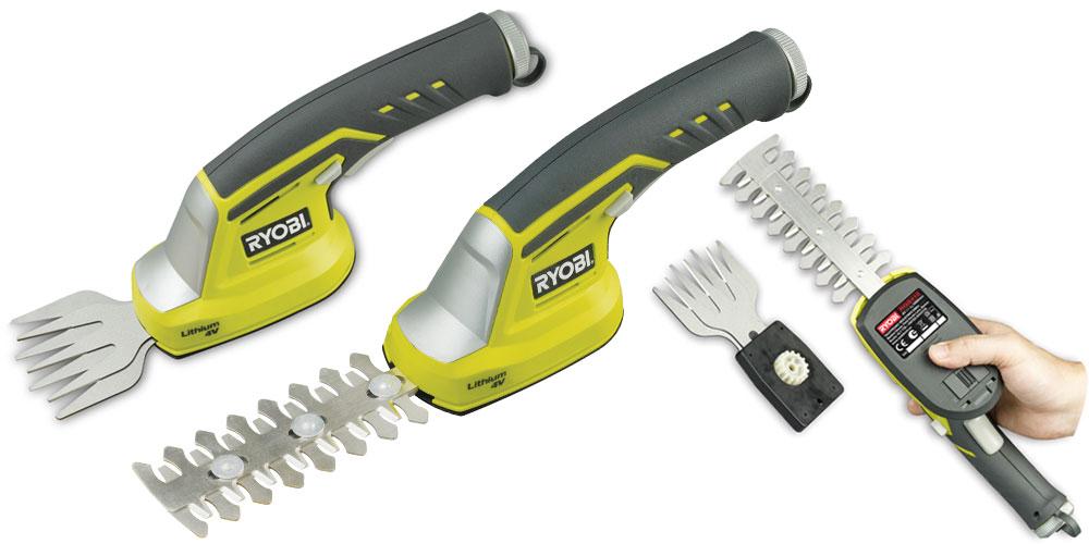 Кусторез Ryobi RGS410 (3000678)Кусторезы<br>Аккумуляторные садовые ножницы-кусторез Ryobi RGS410 3000678&amp;nbsp;&amp;nbsp;могут использоваться для финишной обработки газона после газонокосилки, стрижки травы вдоль дорожек или забора. При использовании насадки-кустореза инструмент поможет при уходе за живой изгородью.<br>Аккумулятор li-ion не обладает эффектом памяти и саморазрядом. Замена ножа осуществляется очень легко и без использования дополнительных инструментов. Рукоятка с мягкой накладкой увеличивает комфорт при работе.<br><br>- Отсутствие токсичных выхлопов;<br>- Малошумность;<br>- Защита от случайного включения;...<br><br>Тип: кусторез<br>Длина шины дюйм/см: 12 см