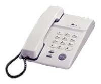 Проводной телефон LG GS5140 RUSCRПроводные телефоны<br>LG gs5140 ruscr: только главное и необходимое.<br>Никаких излишеств, ненужных деталей и функций, только все самое главное и необходимое — в этом он весь, проводной телефон LG gs5140 ruscr. Звонить по нему друзьям и коллегам — одно удовольствие, ведь это так просто, быстро и, что очень важно, удобно. У кнопок этого телефона такой мягкий ход, что на них хочется нажимать и нажимать. Вполне вероятно, что вам так понравится телефон, что вы будете общаться с друзьями, родными, знакомыми и коллегами буквально часами!<br>Посмотрите отзывы об этой модели тех, кто уже получает...<br><br>Тип: проводной телефон<br>Память (количество номеров): 3<br>Повторный набор номера: есть<br>Тональный набор: есть<br>Регулятор уровня громкости: есть<br>Электронное разъединение: есть