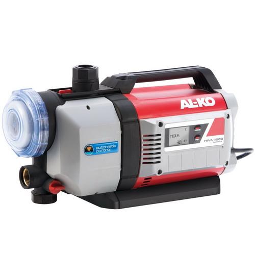 Насос AL-KO HWA 4500 ComfortНасосы<br>Автоматическая насосная станция AL-KO HWA 4500 Comfort — управляемое электроникой водоснабжение в доме и в саду:<br><br>- Идеально подходит для полива грядок и газонов, для подачи воды в оросительных системах и садовых душах, для перекачивания и выкачивания дождевой и водопроводной воды<br>- Несложное введение в эксплуатацию благодаря наличию обратного клапана<br>- Большой, легко очищающийся предварительный фильтр надежно защитит насос от загрязнения<br>-Не нуждающийся в ремонте насос со встроенной защитой от сухого хода<br>- Безопасность и удобство в использовании...<br><br>Потребляемая мощность: 1300 Вт<br>Установка насоса: горизонтальная