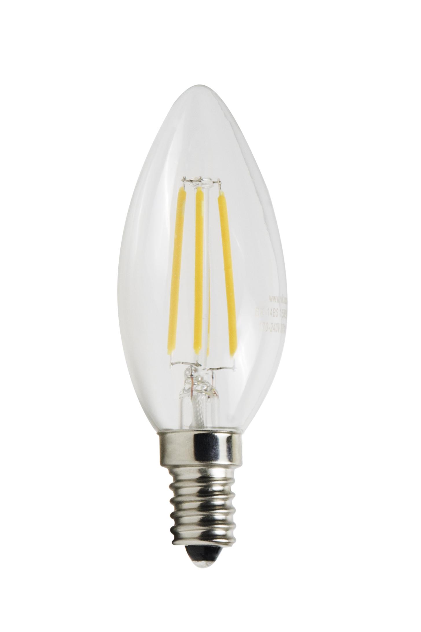 Светодиодная лампа Виктел BK-14W5C30 Edison,E14, 5W, 3000K