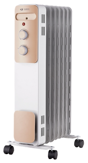 Масляный радиатор Timberk TOR 21.2311 LUXОбогреватели<br><br><br>Тип: масляный радиатор<br>Максимальная мощность обогрева: 2300 Вт<br>Площадь обогрева, кв.м: 25<br>Количество секций: 11<br>Каминный эффект : есть<br>Управление: механическое<br>Регулировка температуры: есть<br>Выключатель со световым индикатором: есть<br>Напольная установка: есть<br>Отделение для шнура : есть