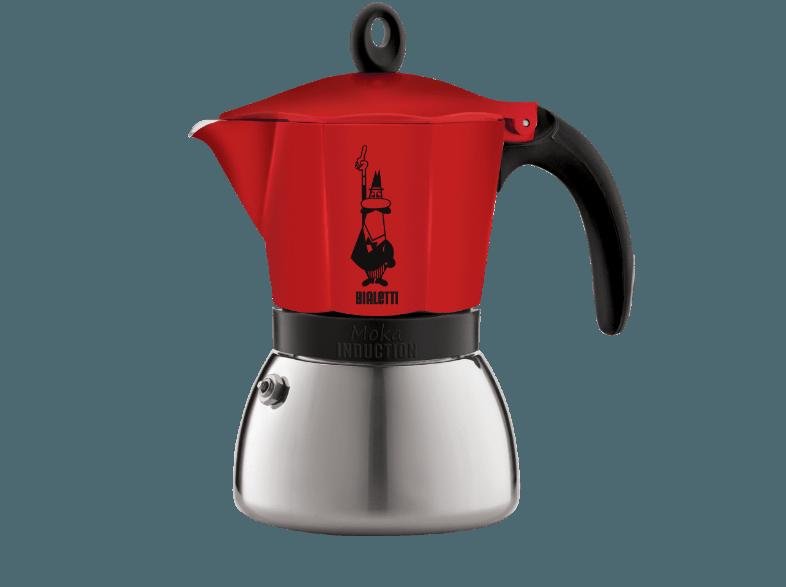 Кофеварка Bialetti Moka Induction 6 п. 4923 RedКофеварки и кофемашины<br><br><br>Тип : гейзерная кофеварка<br>Объем, л: 0.24<br>Материал корпуса  : Металл