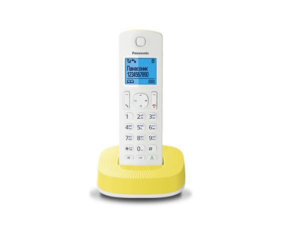 Радиотелефон Panasonic KX-TGC310RUYРадиотелефон Dect<br><br><br>Тип: Радиотелефон<br>Рабочая частота: 1880-1900 МГц<br>Стандарт: DECT<br>Возможность набора на базе: Нет<br>Проводная трубка на базе : Нет<br>Время работы трубки (режим разг. / режим ожид.): 16/200<br>Дисплей: на трубке (цветной), 4 строки<br>Журнал номеров: 50