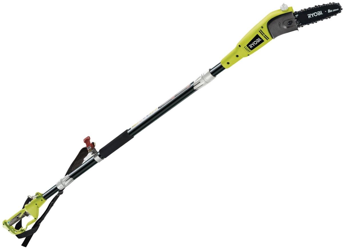 Высоторез Ryobi RPP750S (3002228)Кусторезы<br>Штанговый сучкорез Ryobi RPP750S 3002228 существенно облегчает уход за плодовыми деревьями. Снабжен электрическим двигателем мощностью 750 Вт. Удлиняющаяся штанга позволяет резать ветки на значительной высоте. Надежный хват рукоятки обеспечивает обрезиненное покрытие GripZone™. В комплект входит плечевой ремень, который способствует безопасной удобной работе. Модель отличается экологичностью, небольшим весом и низким уровнем шума.<br><br>- Тихая работа;<br>- Отсутствие токсичных выхлопов;<br>- Во время работы оператор может подвесить сучкорез на плечо, используя...<br><br>Тип: высоторез<br>Тип двигателя: Электрический<br>Источник питания: сеть<br>Мощность двигателя, Вт: 750<br>Длина шины дюйм/см: 20 см<br>Описание: длинна при полной сборке 2,5м длинна с одним коленом 1,65м