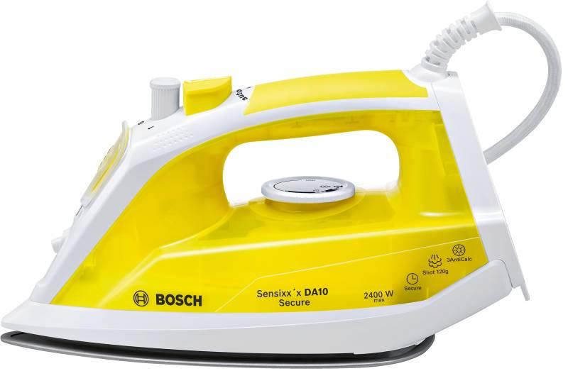 Утюг Bosch TDA 1024140Утюги и гладильные системы<br><br><br>Тип : Утюг<br>Мощность, Вт: 2400<br>Скорость постоянной подачи пара, г/мин: 35<br>Паровой удар, г/мин: 120<br>Вертикальное отпаривание: Есть<br>Система самоочистки: Есть<br>Противокапельная система: Есть<br>Объём резервуара для воды, мл: 300<br>Длина сетевого шнура, м: 1.9