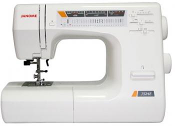 Швейная машина Janome 7524EШвейные машины<br>Машинке Janome 7524e подвластны любые ткани!<br> Те, кто уже пробовал шить на швейной машинке Janome 7524e, успели убедиться, что работать на ней &amp;mdash; настоящее удовольствие. Мягкий ход, плавная регулировка скорости, рукавная платформа, петля-автомат — когда садишься за эту машинку, так и хочется сразу начать шить и создавать модные модели одежды! Кстати, подробнее вы можете узнать об ощущениях и впечатлениях владельцев швейной машины Janome 7524e из их отзывов на многочисленных сайтах о швейном деле.<br><br><br><br> Даже такие капризные материалы, как эластик и трикотаж, подвластны...<br><br>Тип: электронная<br>Тип челнока: ротационный горизонтальный<br>Вышивальный блок: нет<br>Количество швейных операций: 24<br>Выполнение петли: автомат<br>Максимальная длина стежка: 4.0 мм<br>Максимальная ширина стежка: 6.5 мм<br>Оверлочная строчка : есть<br>Кнопка реверса: есть<br>Регулировка давления лапки на ткань: есть