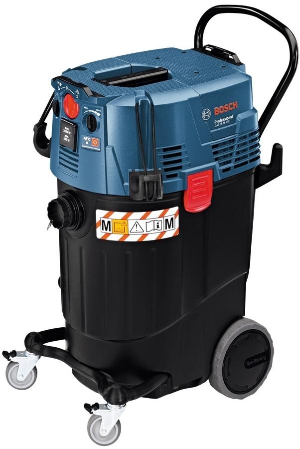 Строительный пылесос Bosch GAS 55 M AFC [06019C3300]Пылесосы<br>Универсальный пылесос Bosch Professional GAS 55 M AFC сертифицированный по классу M, большой вместимости для влажного и сухого мусора с автоматической очисткой фильтра.<br><br>Особенности:<br>- Автоматика дистанционного выключения<br>- Пылезащищенность класса M<br>- Автоматическая система очистки фильтра<br>- Плавная регулировка силы всасывания на пылесосе и на муфте<br>- Звуковой сигнал при достижении минимального потока воздуха<br>- Ограничение пускового тока<br>- Антистатический шланг<br>- Большой бак<br>- Крепление для установки кейсов L-BOXX<br>- Макс. пропускная способность: 74 л/с<br>- Автоматическое...<br><br>Тип: Строительный пылесос<br>Потребляемая мощность, Вт: 1380<br>Тип уборки: Сухая\влажная<br>Регулятор мощности на корпусе: Есть<br>Пылесборник: Мешок<br>Емкостью пылесборника : 55 л