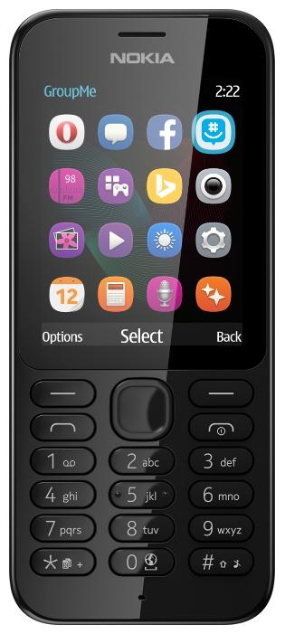 Мобильный телефон Nokia 222 BlackМобильные телефоны<br><br><br>Тип: Мобильный телефон<br>Стандарт: GSM 900/1800<br>Тип трубки: классический<br>Фотокамера: 2 млн пикс.<br>Форматы проигрывателя: MP3<br>Разъем для наушников: 3.5 мм