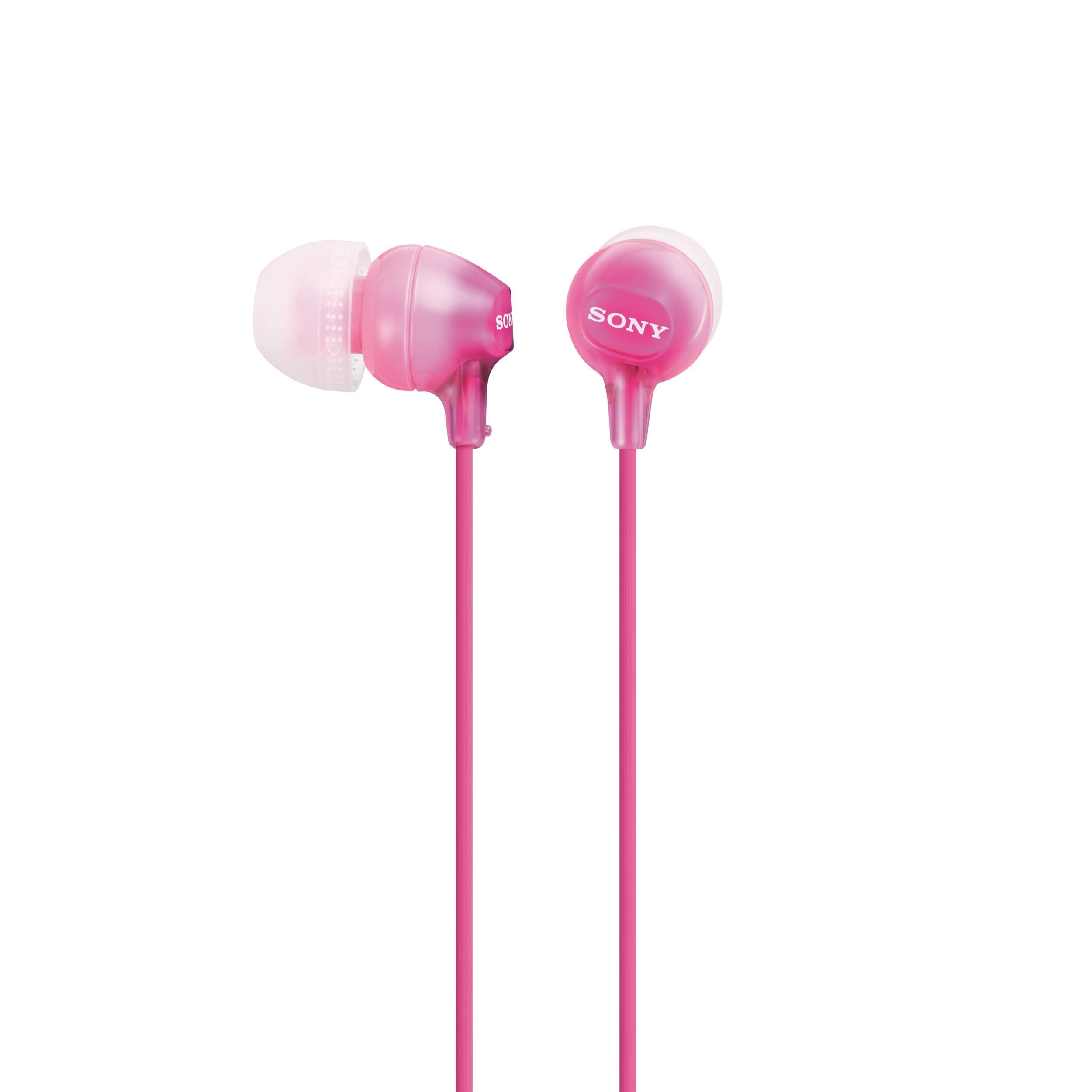 Наушники Sony MDR-EX15LP/P PinkНаушники и гарнитуры<br>Sony MDR-EX15LP/P Pink — розовые леденцы для отличного звука.<br>Девочки совершенно точно придут в восторг от наушников Sony MDR-EX15LP/P Pink. Ведь они такого яркого конфетного розового цвета. Действительно, эти наушники-«затычки» напоминают пару сладких леденцов. Правда, кушать их не стоит, а вот слушать любимые аудиотреки — пожалуйста! Это именно то, для чего они и созданы.<br>Вас приятно удивит хорошая детализация звука, широкий частотный диапазон — от 8 до 22000 Гц, удобная конструкция и потрясающий легкий вес таких наушников — всего лишь 3 грамма! Любуйтесь ими и,...<br><br>Тип: наушники<br>Тип акустического оформления: Закрытые<br>Вид наушников: Вкладыши<br>Тип подключения: Проводные<br>Номинальная мощность мВт: 100<br>Диапазон воспроизводимых частот, Гц: 8 - 22000<br>Сопротивление, Импеданс: 16<br>Чувствительность дБ: 100