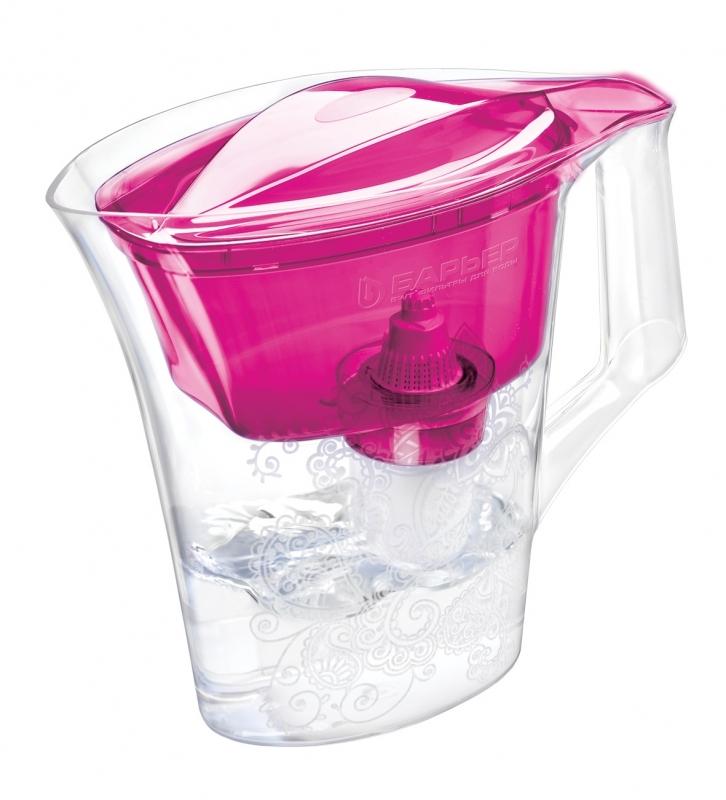 Кувшин Барьер Танго PurpleФильтры и умягчители для воды<br>НОВИНКА! Фильтр-кувшин для воды Барьер Танго. Узкий корпус с элегантным рисунком. <br><br>Кувшин изготовлен из высококачественного пластика BASF, допущенного для контакта с питьевой водой. <br>Возможность мыть в посудомоечной машине. <br>Кувшин декорирован элегантным рисунком. <br>Имеет удобную цельнолитую ручку, специальные пазы для надежного крепления воронки и крышки.<br>Широкий выступ на крышке кувшина, за который её удобно снимать и надевать.<br><br>Особенность фильтров-кувшинов БАРЬЕР — надежное резьбовое крепление кассеты к воронке кувшина, что исключает попадание...<br><br>Тип: фильтр-кувшин<br>Тип фильтра: кувшин<br>Подключение к водопроводу: нет