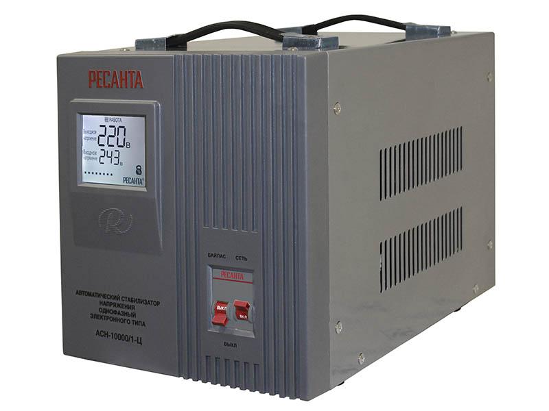 Стабилизатор напряжения Ресанта  ACH-10000/1-ЦСтабилизаторы напряжения<br><br><br>Тип: стабилизатор напряжения