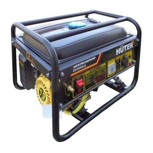 Электрогенератор Huter DY4000LGЭлектрогенераторы<br>- Генераторная установка HUTER DY4000LG является автономным переносным средством обеспечения электрической энергией бытовых потребителей в пределах своих технических возможностей.<br>- Установка относится к типу мультитопливных, то есть, приспособлена для использования в качестве топлива бензина и газа.<br>- Агрегат приводится в действие при помощи двигателя внутреннего сгорания, который обладает ручным тросовым пускателем и эффективной системой воздушного охлаждения, повышающей его надежность.<br>- Электрогенератор снабжен защитными системами, реагирующими...<br><br>Тип электростанции: газо-бензиновая<br>Тип запуска: ручной<br>Число фаз: 1 (220 вольт)<br>Тип охлаждения: воздушное<br>Объем бака: 15 л<br>Тип генератора: синхронный<br>Активная мощность, Вт: 3000<br>Защита от перегрузок: есть