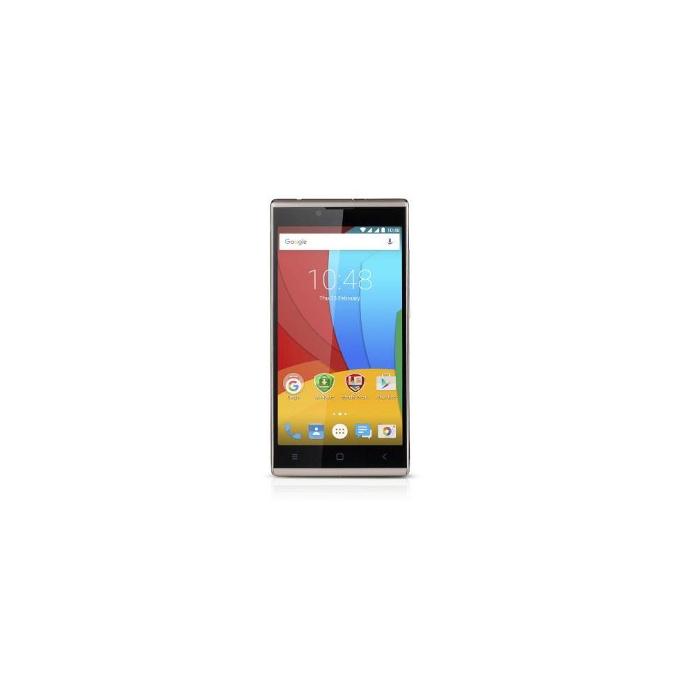 Мобильный телефон Prestigio 5506 Grace Q5 GoldМобильные телефоны<br><br><br>Тип: Смартфон<br>Стандарт: GSM 900/1800/1900, 3G<br>Тип трубки: классический<br>Поддержка двух SIM-карт: есть<br>Операционная система: Android 5.1<br>Встроенная память: 1<br>Фотокамера: 8 млн пикс<br>Форматы проигрывателя: MP3<br>Процессор: Spreadtrum SC7731, 1300 МГц<br>Количество ядер процессора: 4