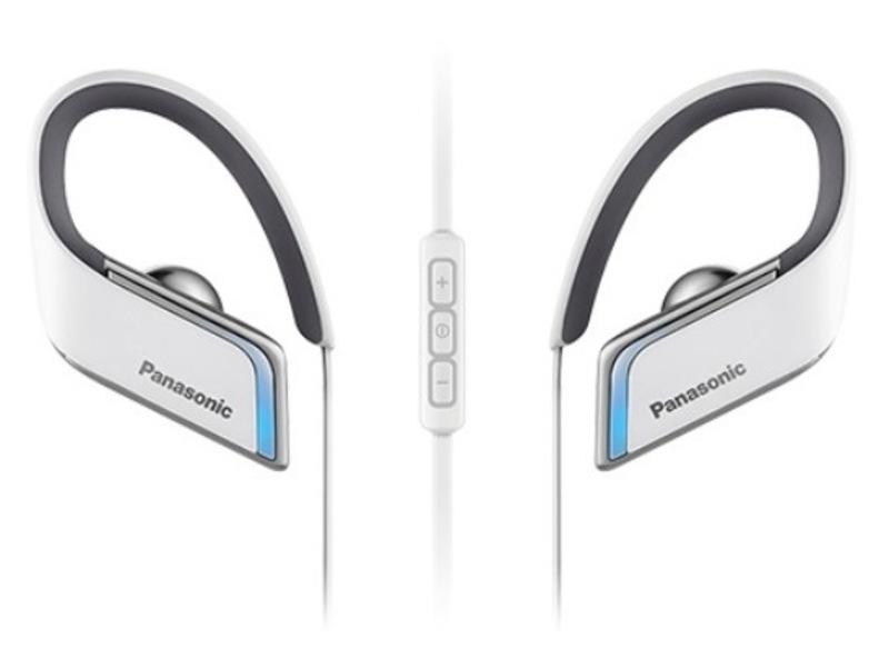 Наушники Panasonic RP-BTS50GC-WНаушники и гарнитуры<br>Спортивные Bluetooth наушники BTS50 обеспечивают высококачественное звучание даже во время интенсивных занятий спортом, а система влагозащиты класса IPX4 позволит продолжить тренировку, несмотря на дождь. Гибкая и легкая конструкция наушников обеспечивает надежную фиксацию в ухе и удобство ношения. Голубая светодиодная подсветка по краям обеспечивает дополнительную безопасность во время вечерних пробежек. Благодаря своей конструкции наушники BTS50 идеально крепятся на ухе и позволяют в полной мере насладиться занятиями спортом под вашу любиму...<br><br>Тип: гарнитура<br>Тип подключения: Беспроводные<br>Диапазон воспроизводимых частот, Гц: 8 - 20 000<br>Микрофон: есть