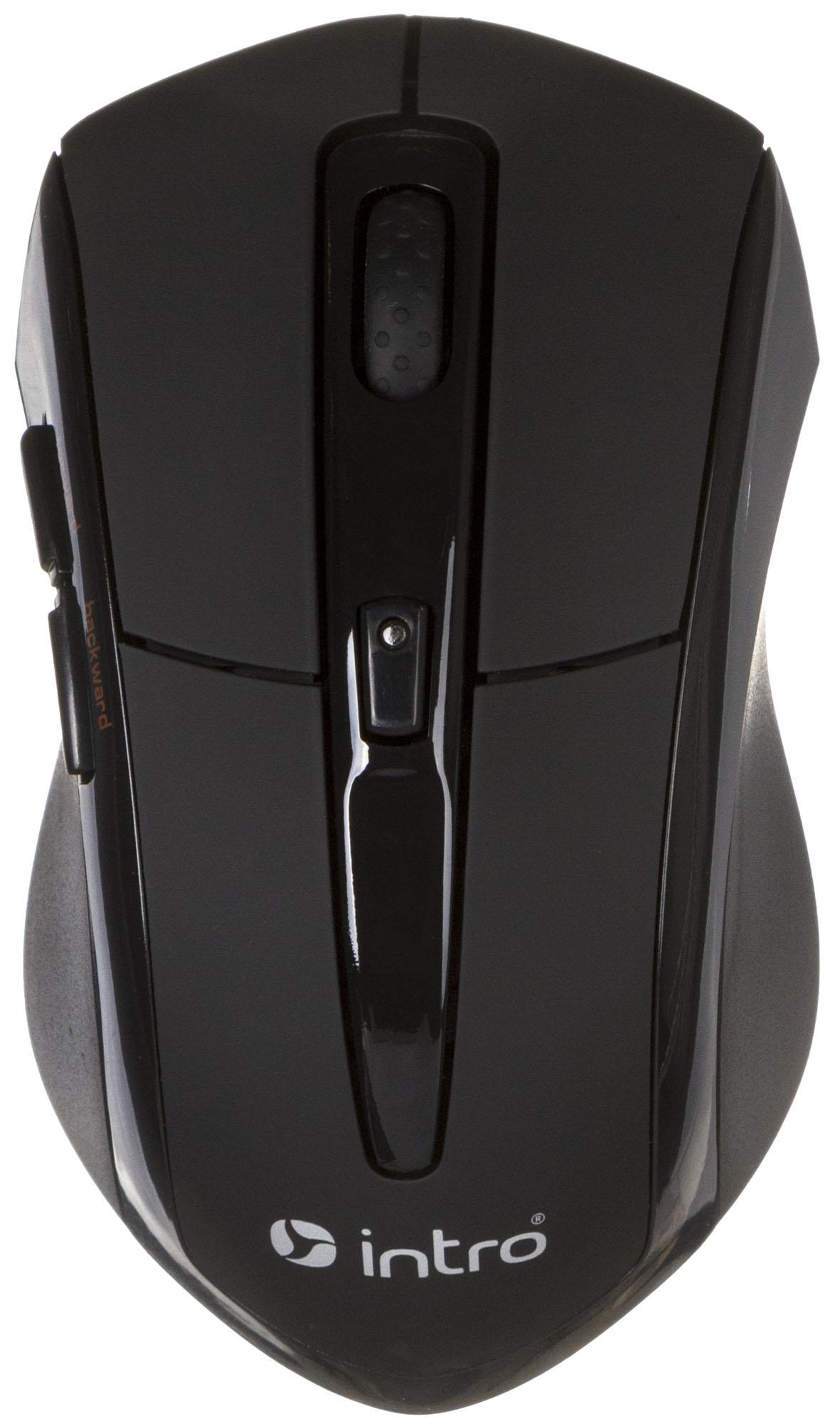 Компьютерная мышь Intro MW207 mouse Wireless Black USBКомпьютерные мыши<br><br>