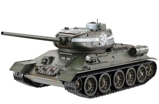 Танк Taigen T34-85 (зеленый) (пневмо)