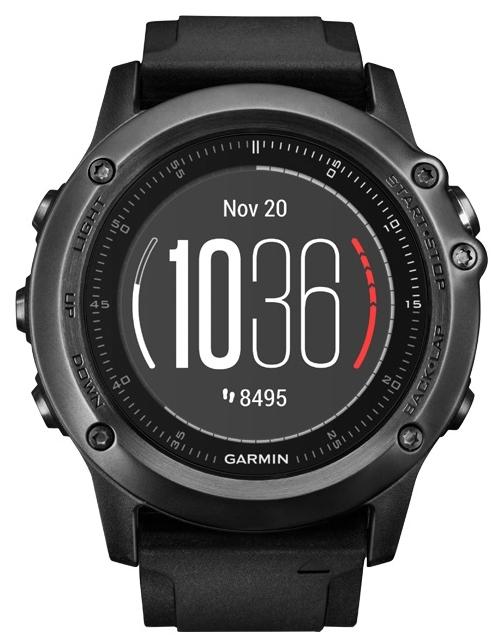 """Умные часы Garmin Fenix 3 Sapphire Black HR [010-01338-71]Умные часы и браслеты<br>Модель fenix 3 представляет собой непревзойденные спортивные часы с GPS-приемником, разработанные для любителей спорта и приключений на открытом воздухе. Добавив к этим многофункциональным часам оптический пульсометр ElevateTM, мы сделали их готовыми к любым занятиям и соревнованиям.<br><br>Цветной дисплей Garmin Chroma DisplayTM с диаметром 1,2"""", отличным качеством изображения даже при солнечном свете и прочным выпуклым сапфировым стеклом<br><br>- Функции для спортивных тренировок: расширенные данные беговой динамики &amp;#40;например, длина шага и коэффициент вертикальных...<br>"""