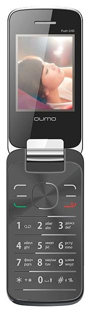Мобильный телефон QUMO Push 246 Clamshell BlackМобильные телефоны<br><br>