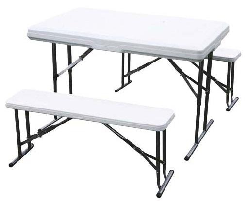 Набор садовой мебели Green Glade B113Мебель для сада<br>Складной стол B113 – удобный, устойчивый стол для времяпровождения на природе, с двумя небольшими, компактными скамейками. В сложенном состоянии этот комплект занимает немного места, а скамейки размещены в середине стола. Отлично подойдет для семьи и для приема гостей или же соседей по даче. Позволяет насладиться ароматной пищей на свежем воздухе. Каркас стола и скамеек сделан из стали, и Вы не будете переживать, что они не выдержат большого груза. Белая столешница и поверхность скамеек, сделанные из пластика, на который не влияют плохие погодные...<br><br>Тип: набор садовой мебели