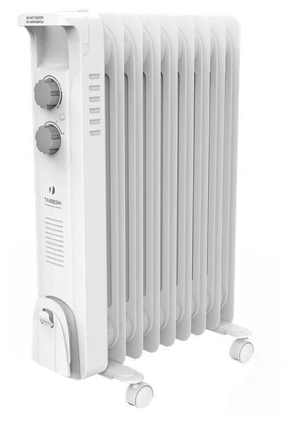 Масляный радиатор Timberk TOR 21.1507 BCОбогреватели<br><br><br>Тип: масляный радиатор<br>Серия: Blanco EXT<br>Максимальная мощность обогрева: 1500<br>Площадь обогрева, кв.м: 20<br>Количество секций: 7<br>Каминный эффект : есть<br>Управление: механическое<br>Регулировка температуры: есть<br>Термостат: есть<br>Напольная установка: есть