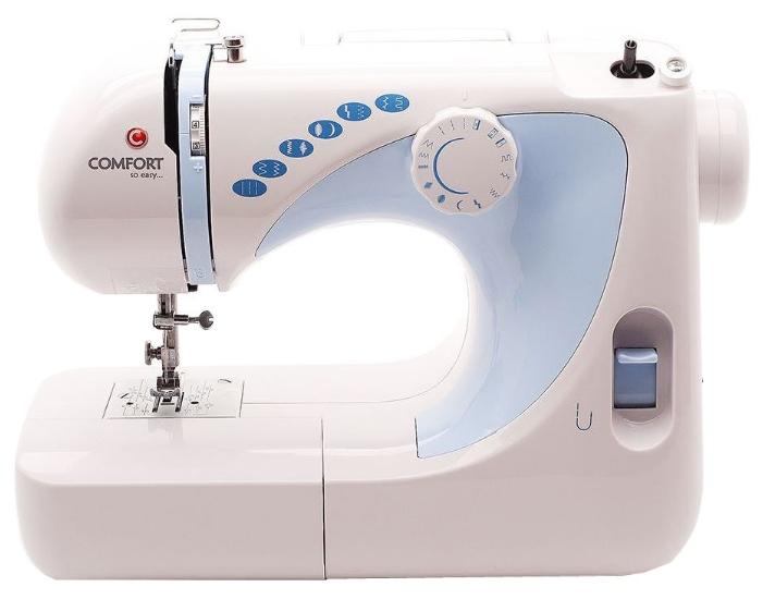 Швейная машина Comfort 300Швейные машины<br>Швейная машина Comfort 300 способна выполнять целых 17 швейных операций, а также 12 видов стежков: прямая строчка, зигзаг, эластичная, декоративные, для сшивания ткани встык, оверлочная. Имеется возможность полуавтоматического изготовления петли под пуговицу.<br><br>Благодаря подсветки рабочей зоны, Вы сможете с легкостью разглядеть мельчайшие детали в процессе шитья.<br><br>Модель оснащена педалью для регулировки скорости шитья. Лапкодержатель выполнен из стали. Также стоит отметить присутствие отключения привода для намотки шпульки. Прибор прост в...<br><br>Тип: электромеханическая<br>Тип челнока: ротационный горизонтальный<br>Вышивальный блок: нет<br>Количество швейных операций: 14<br>Выполнение петли: полуавтомат<br>Максимальная длина стежка: 4.0 мм<br>Максимальная ширина стежка: 5.0 мм<br>Эластичная строчка : есть<br>Кнопка реверса: есть<br>Рукавная платформа: есть