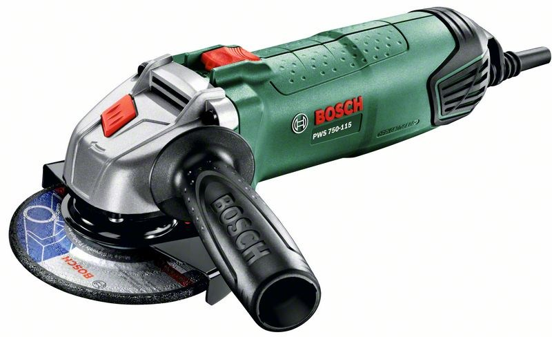 Угловая шлифмашина Bosch PWS 750-115 [06033A2420]Шлифовальные и заточные машины<br><br>