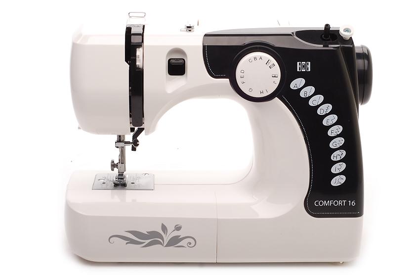 Швейная машина Comfort 16Швейные машины<br><br><br>Тип: электромеханическая<br>Тип челнока: вертикальный (ротационный)<br>Вышивальный блок: нет<br>Количество швейных операций: 12<br>Выполнение петли: полуавтомат<br>Максимальная длина стежка: 4 мм<br>Максимальная ширина стежка: 5.0 мм<br>Потайная строчка : есть<br>Эластичная строчка : есть<br>Эластичная потайная строчка: есть