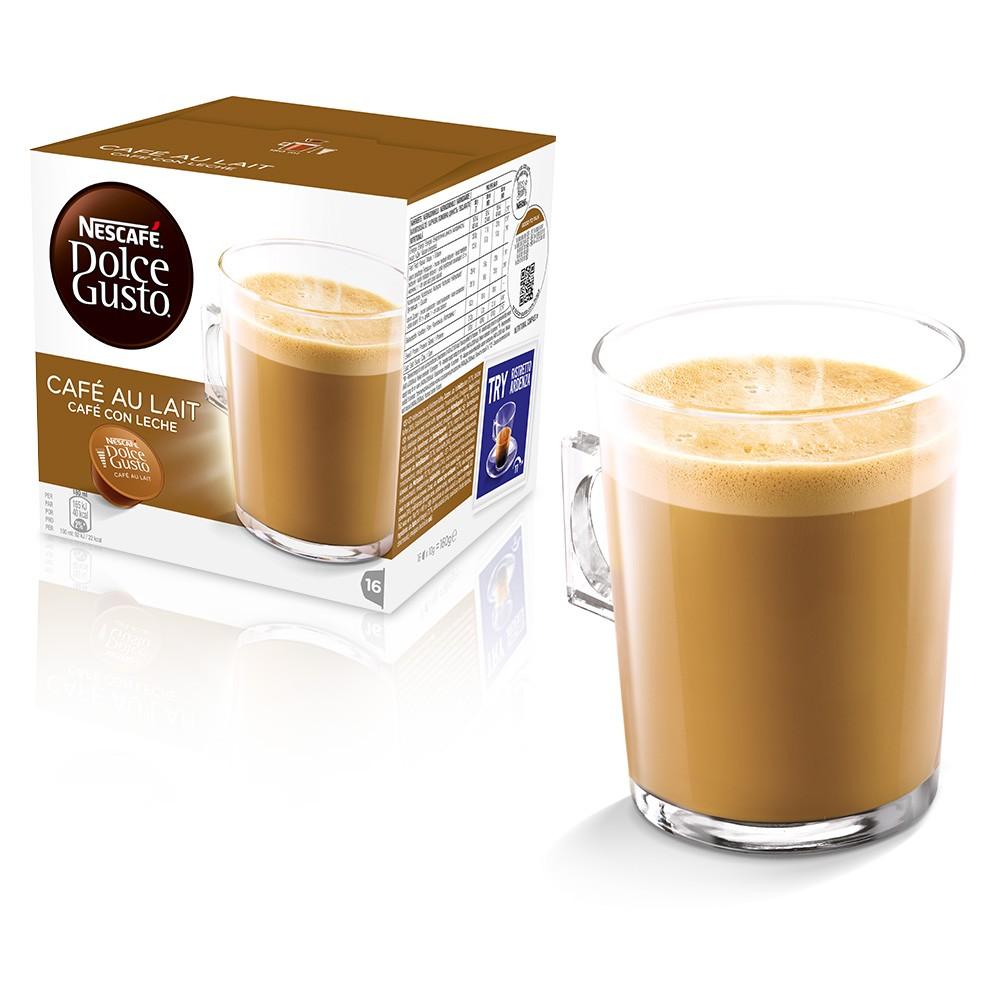 Кофе в капсулах Nescafe Dolce Gusto Cafe Au Lait(cafe con leche) 16 кап