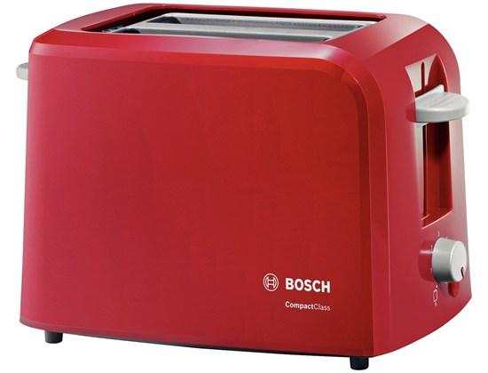 Тостер Bosch TAT 3A014Тостеры и минипечи<br><br><br>Тип: тостер<br>Тип управления: Механическое<br>Переключатели: поворотные<br>Мощность гриля, Вт: 980<br>Количество отделений: 2<br>Количество тостов: 2