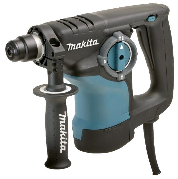 Перфоратор Makita HR2810Перфораторы<br><br><br>Тип крепления бура: SDS-Max<br>Количество скоростей работы: 1<br>Потребляемая мощность: 800 Вт<br>Макс. энергия удара: 2.93 Дж<br>Макс. диаметр сверления (дерево): 32 мм<br>Макс. диаметр сверления (металл): 13 мм<br>Макс. диаметр сверления (бетон): 28 мм<br>Макс. диаметр сверления (полой коронкой): 70 мм<br>Питание: от сети<br>Возможности: реверс, предохранительная муфта, электронная регулировка частоты вращения