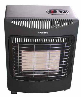 Газовый обогреватель Hyundai H-HG1-42-UI688Газовые обогреватели<br><br><br>Тип: газовый обогреватель<br>Номинальная тепловая мощность, кВт: 4.2<br>Расход газа: от 110 до 305 гр/час<br>Тип топлива: пропан/бутан<br>Площадь помещения: 42 кв.м<br>Способ поджига: пьезо<br>Описание: контроль недостаточного содержания кислорода. Отключение подачи газа при отсутствии пламени. Защита от опрокидывания. Вмещает газовый баллон:до 5 кг (12 л). 3 режима работы горелки: 1,5; 2,9; 4,2 кВт. Внутренние пространство для баллона. Колесная база для перемещения прибора