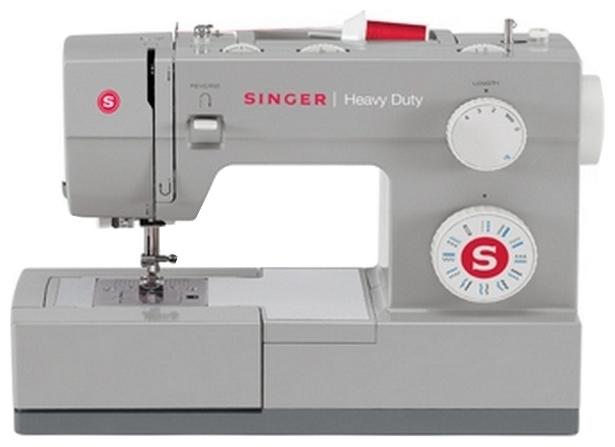 Швейная машина Singer Heavy Duty 4411Швейные машины<br>Singer 4411 — почувствуйте себя модельером!<br>Почувствуйте себя настоящим профессиональным модельером! Создавайте стильные образы, используя богатое разнообразие ткани, творите то, что подсказывает ваша фантазия! Швейная машина Singer 4411 поддержит и воплотит в жизнь все ваши идеи! Она легко справляется с любыми материалами, умеет шить двойной иглой, знает 11 разных операций и имеет в комплекте большой набор разных лапок.<br>Швейная машинка Singer 4411 достойна самых высших похвал и наград. Ее фирменное качество говорит само за себя, о чем вы можете прочитать...<br><br>Тип: электромеханическая<br>Тип челнока: ротационный горизонтальный<br>Вышивальный блок: нет<br>Количество швейных операций: 11<br>Выполнение петли: полуавтомат<br>Число петель: 1100<br>Максимальная длина стежка: 4.0 мм<br>Максимальная ширина стежка: 5.0 мм<br>Оверлочная строчка : есть<br>Потайная строчка : есть