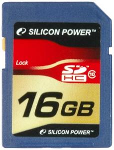 Карта памяти Secure Digital 16Gb HC Silicon Power Class10  / SP016GBSDH010V10Карты памяти<br><br><br>Тип: Карта памяти<br>Тип карты памяти: Secure Digital HC<br>Объем памяти: 16 Гб<br>Класс скорости: Class10